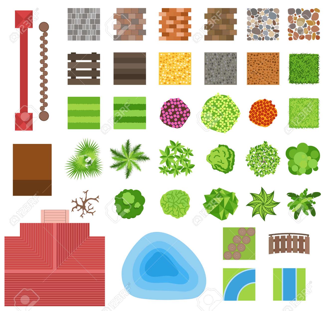 Paisajismo Elementos De Diseño De Jardines. Plantas Ornamentales ...