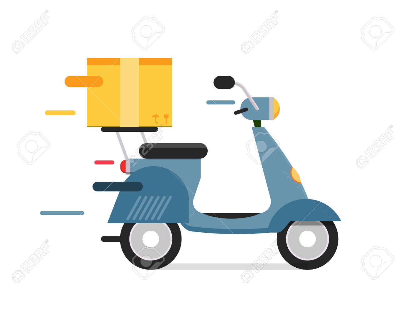 free motorcycle shipping  Delivery Vector Transport Moto Bike Motorcycle Box Pack. Delivery ...