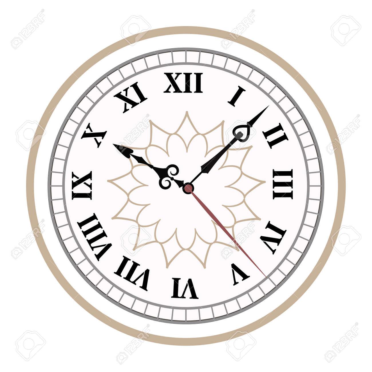 Clock Uhr Alarme Vektor-Icons Illustration. Zifferblatt-Symbole Auf ...