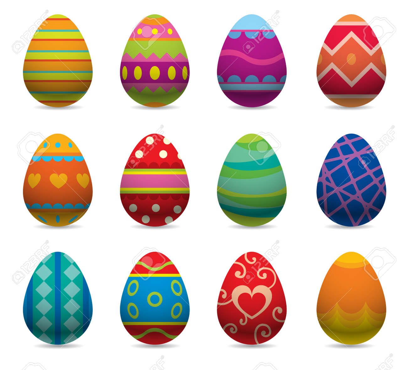 96 138 easter eggs cliparts stock vector and royalty free easter