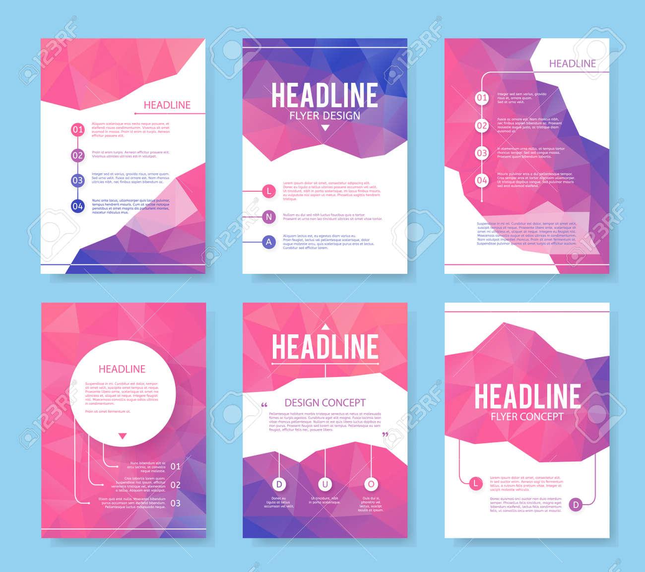 Abstrakt Broschüre Oder Flyer Design-Vorlage. Buchdesign, Blank ...
