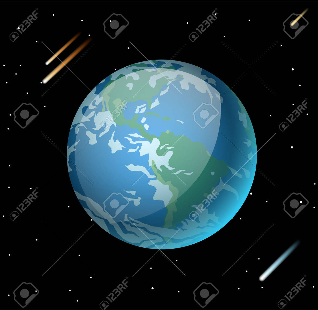 Earth planet 3d vector illustration globe earth texture map earth planet 3d vector illustration globe earth texture map globe vector earth view from gumiabroncs Image collections