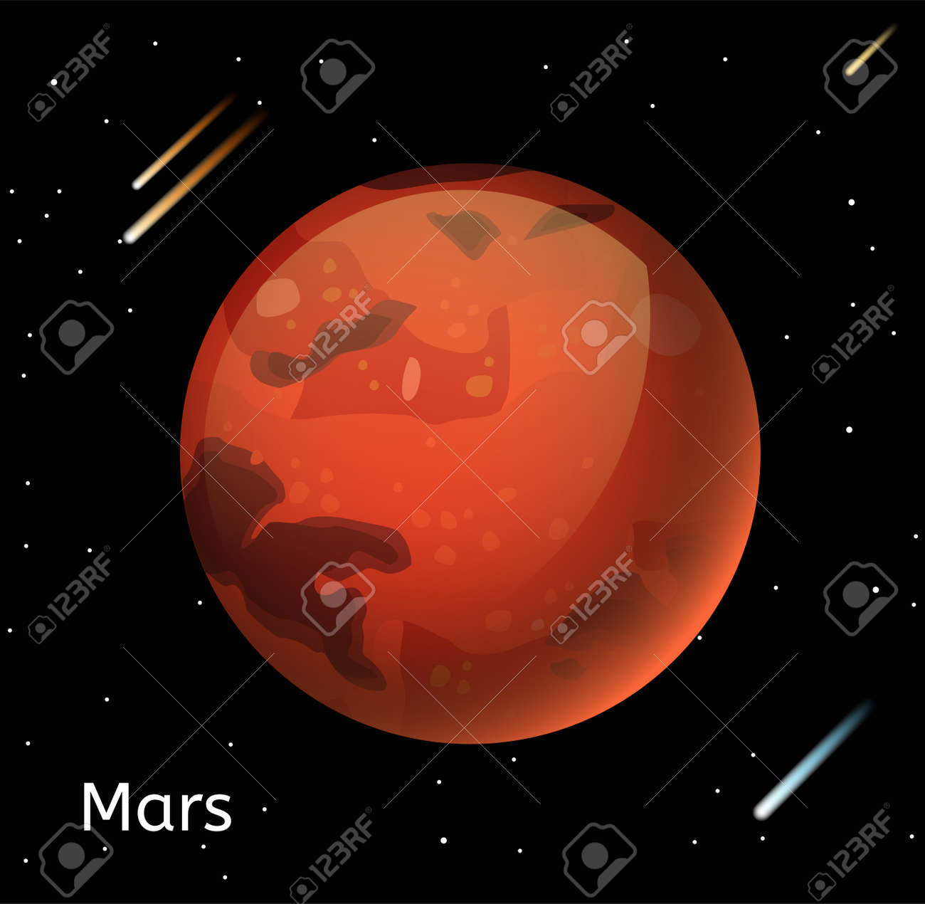 Mars planet 3d vector illustration globe mars texture map globe mars planet 3d vector illustration globe mars texture map globe vector mars view from gumiabroncs Image collections