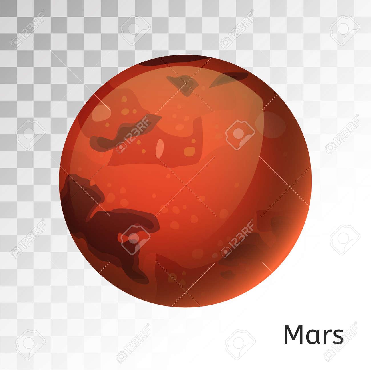 Mars planet 3d vector illustration  Globe Mars texture map  Globe