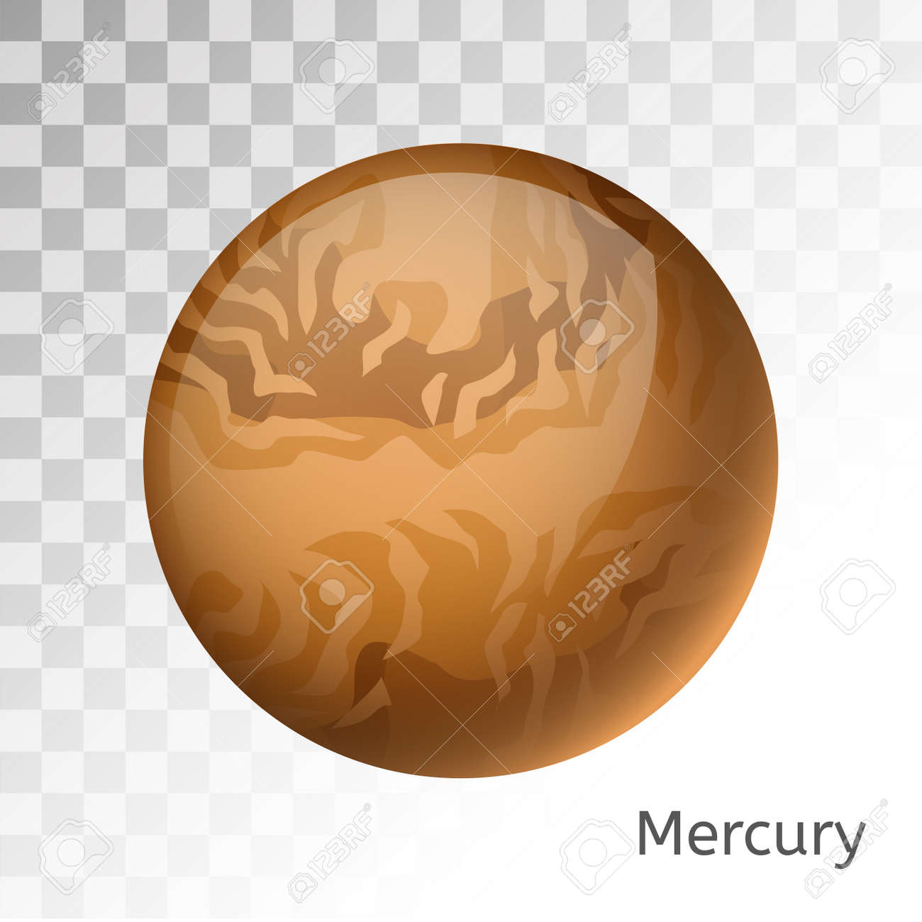 Mercury planet 3d vector illustration globe mercury texture mercury planet 3d vector illustration globe mercury texture map globe vector mercury view from gumiabroncs Image collections