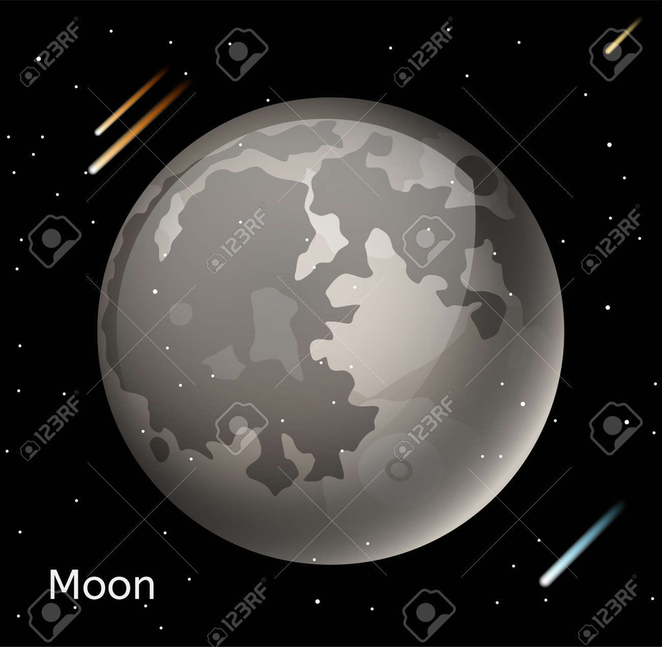 Moon planet 3d vector illustration globe moon texture map globe moon planet 3d vector illustration globe moon texture map globe vector moon view from gumiabroncs Image collections