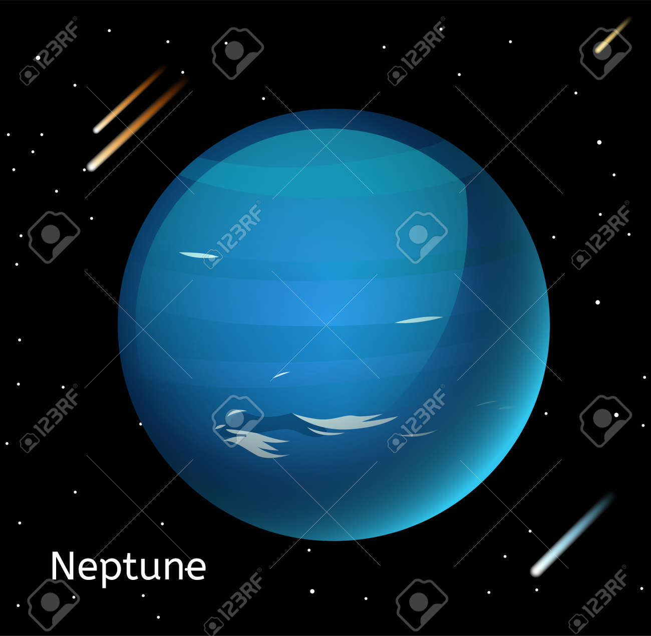 Neptune planet 3d vector illustration globe neptune texture map neptune planet 3d vector illustration globe neptune texture map globe vector neptune view from gumiabroncs Choice Image