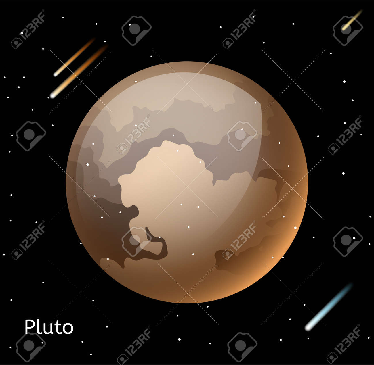Pluto planet 3d vector illustration globe pluto texture map pluto planet 3d vector illustration globe pluto texture map globe vector pluto view from gumiabroncs Image collections