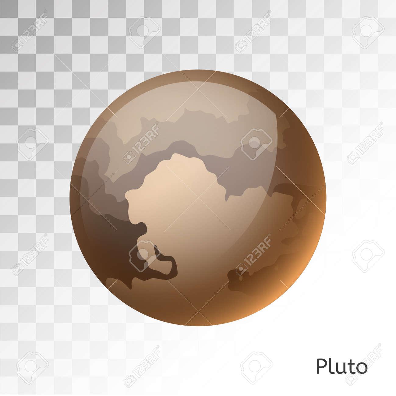 Pluto planet 3d vector illustration  Globe Pluto texture map