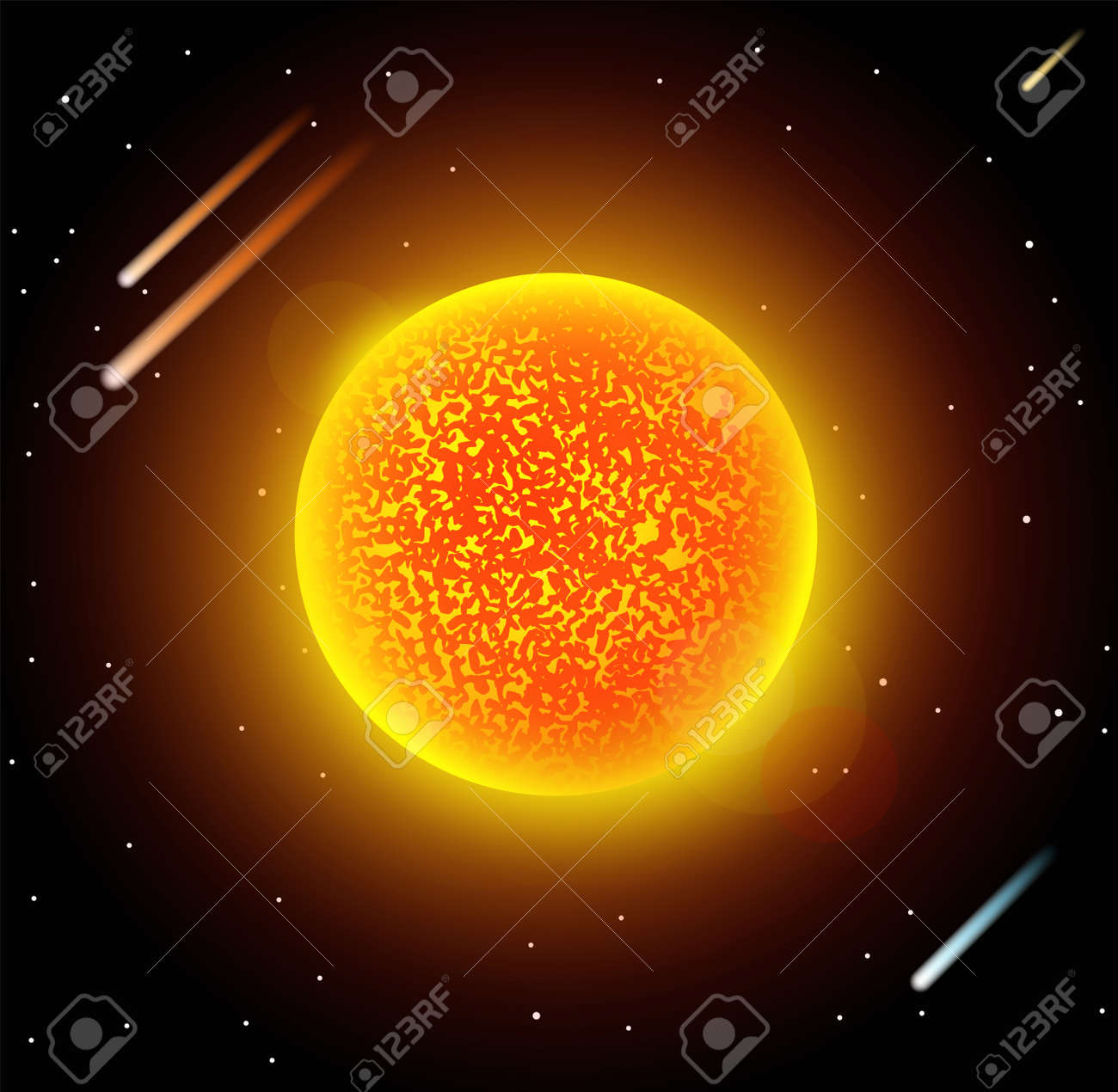 Sun star planet 3d vector illustration globe sun star texture sun star planet 3d vector illustration globe sun star texture map globe vector sun gumiabroncs Images