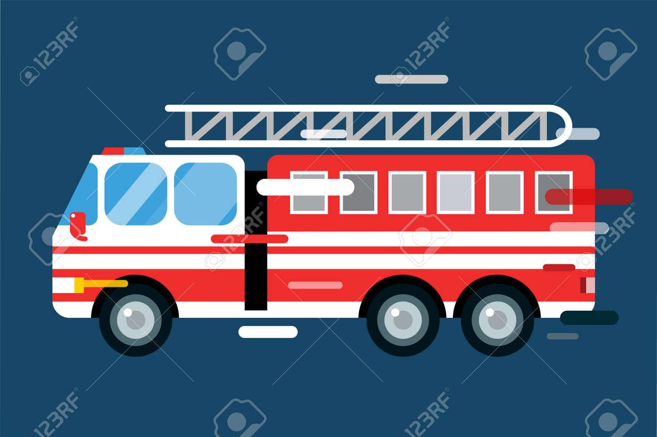 Voiture De Camion D Incendie Isole Camion De Pompier Silhouette
