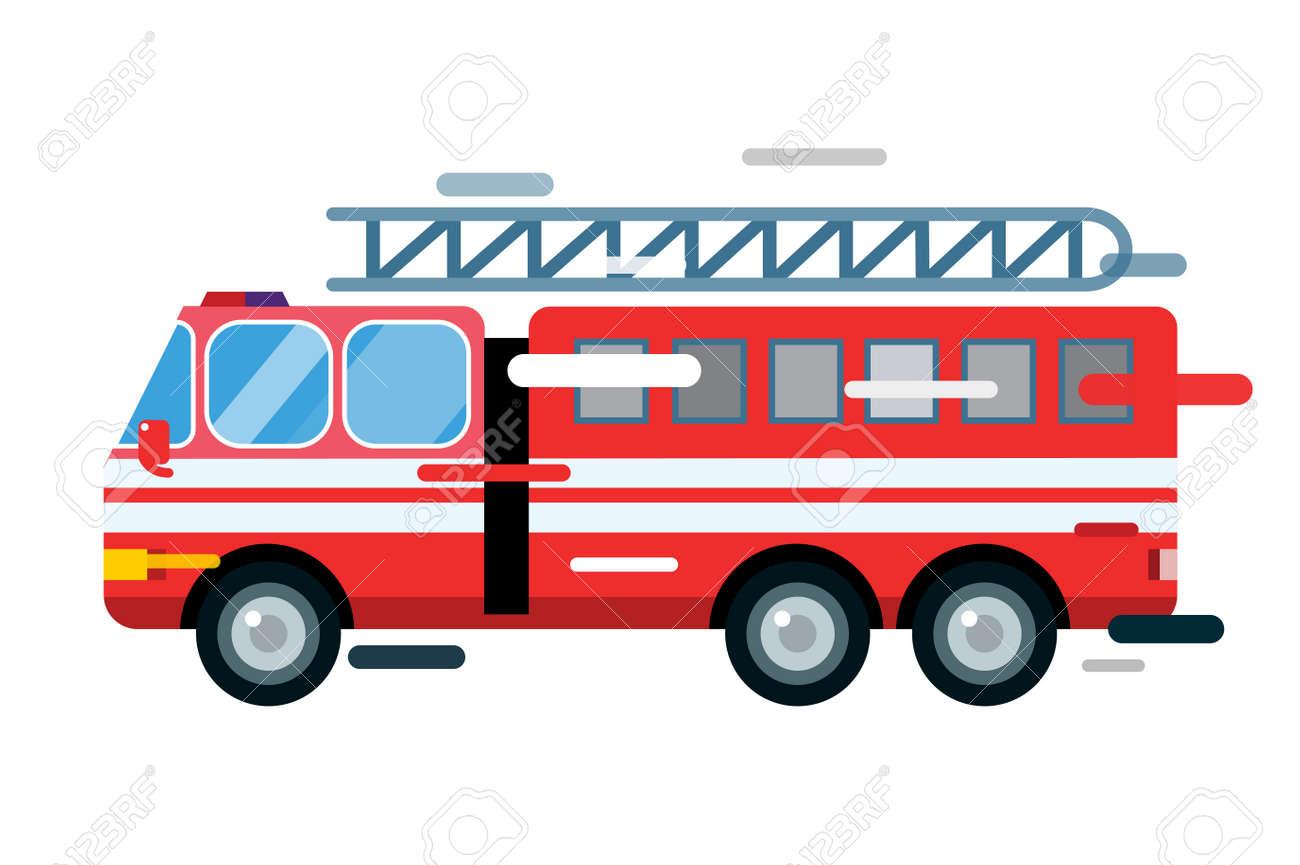 Voiture De Camion D Incendie Isole Camion De Pompier Silhouette De Dessin Anime Camion De Pompiers Du Service D Urgence Rapide Mobile Camion De Pompiers En Mouvement Rapide Feu Illustration De Camion Sauvetage Camion