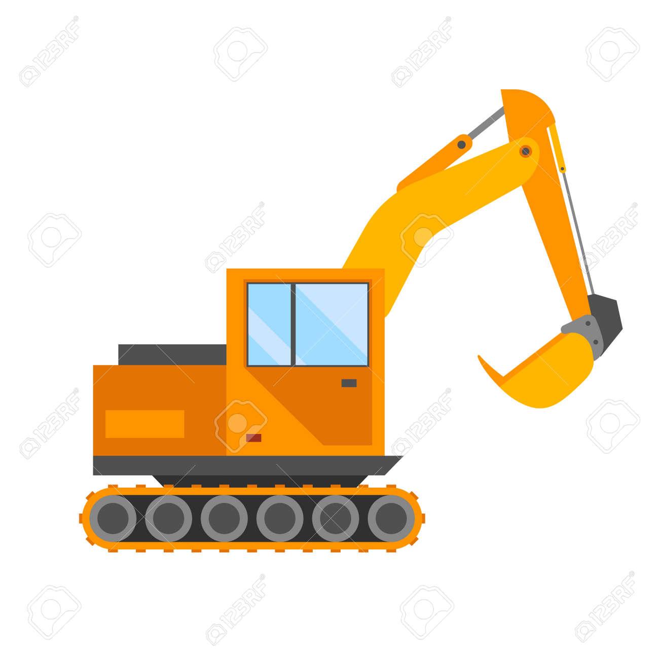 building under construction excavator technics vector illustration rh 123rf com construction vector art construction vectorielle physique