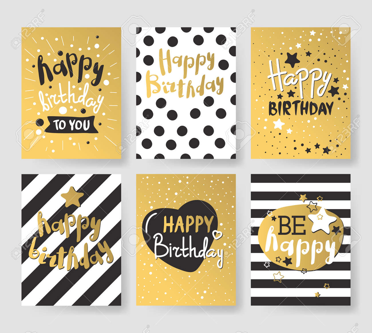 Beautiful Birthday Invitation Cards Design Gold And Black Colors ...