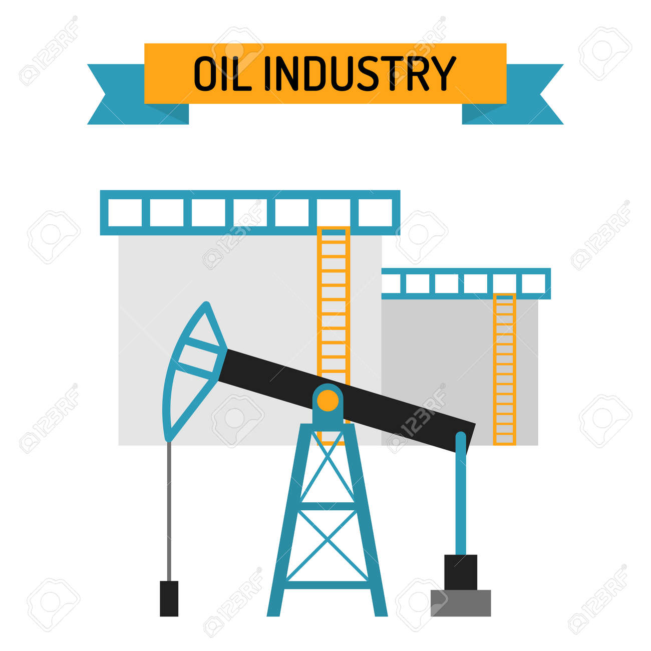 Oil industry flat style vector symbols oil transportation oil oil industry flat style vector symbols oil transportation oil or gas fuel production vector biocorpaavc