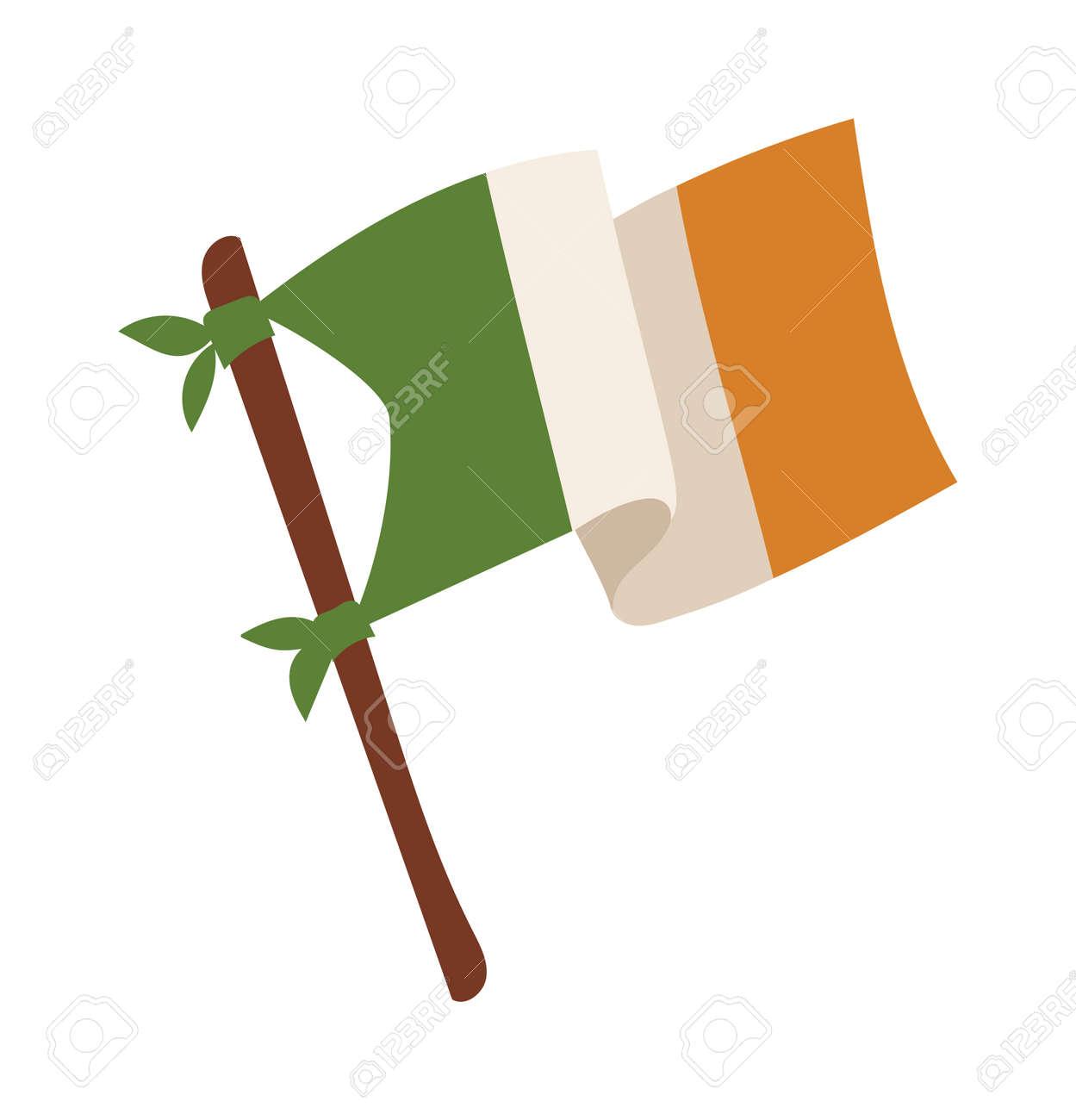 irish flag vector illustration irish flag isolated on background