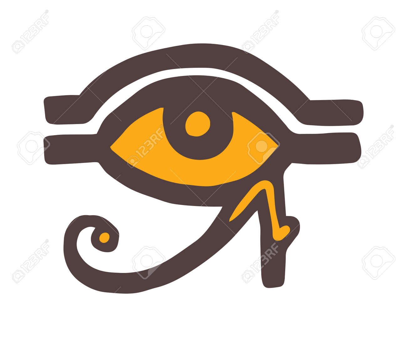 Egypt God Ra Vector Symbol Sun Eye Of Egypt God Ra Reverse Moon