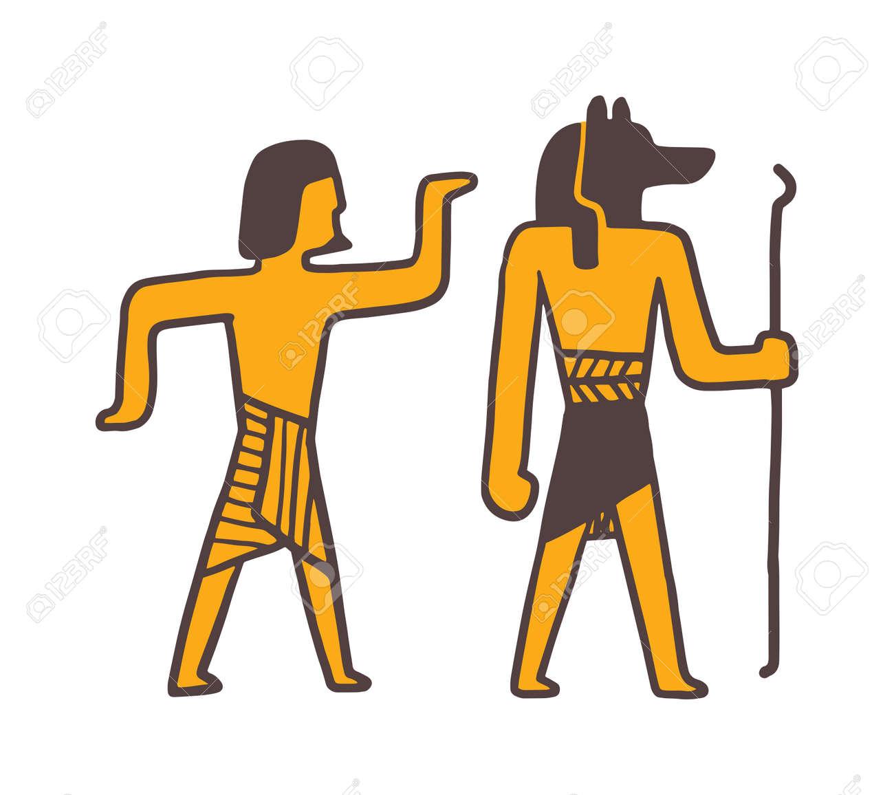 Egypt people vector  Illustration of Egypt people zodiac sign