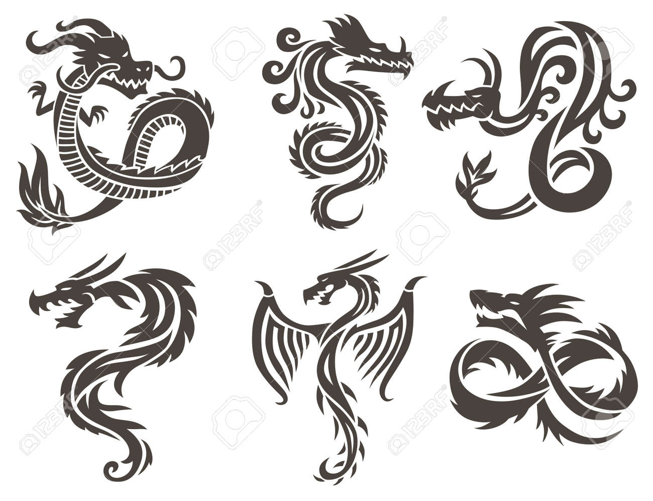 5248 chinese temple cliparts stock vector and royalty free dragon tattoo white background vector illustration vector chinese dragon for the tattoo chinese dragon buycottarizona Gallery