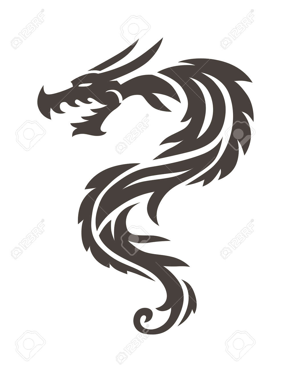 Dragon tattoo white background vector illustration vector chinese dragon tattoo white background vector illustration vector chinese dragon for the tattoo chinese dragon biocorpaavc