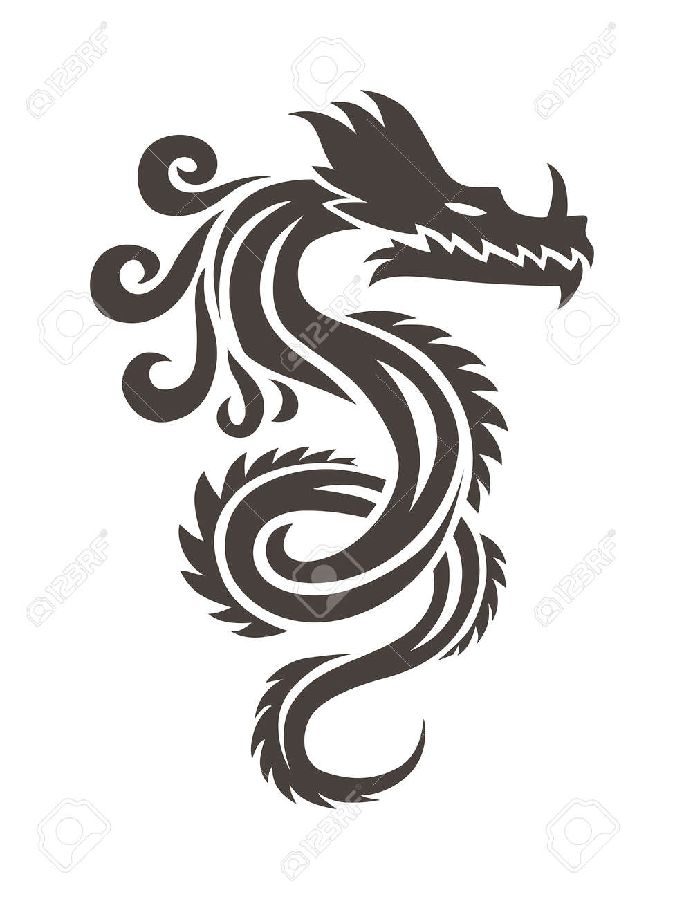 Chinese dragon on white background vector illustration vector chinese dragon on white background vector illustration vector chinese calligraphy for the tattoo chinese biocorpaavc
