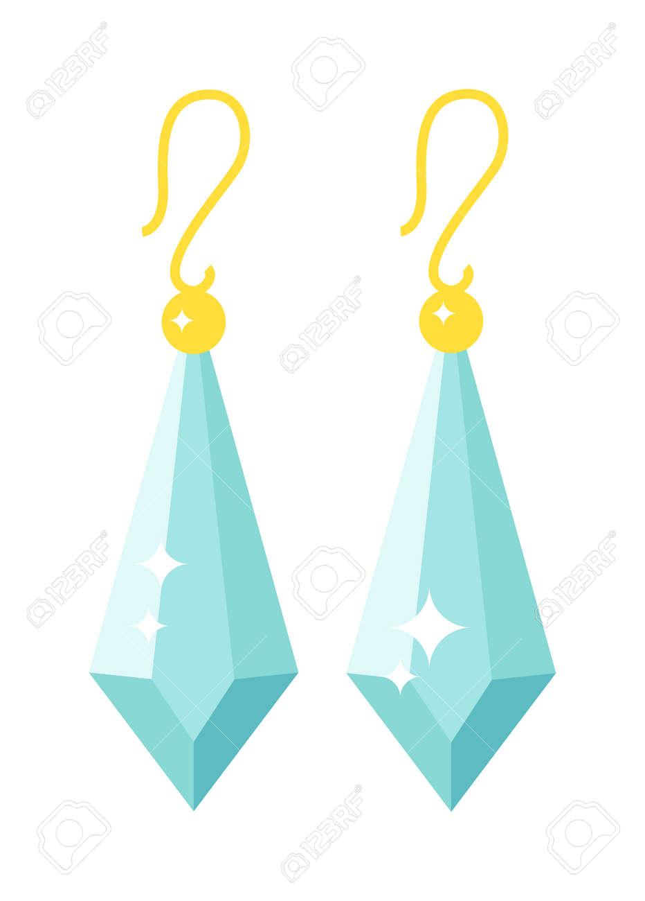 laatst mooie schoenen verkoop usa online Emerald oorbellen mooie gouden accessoire geïsoleerd. Smaragd elegante  oorbellen op de achtergrond. Luxe emerald oorbellen decoratie. Glamour  vector