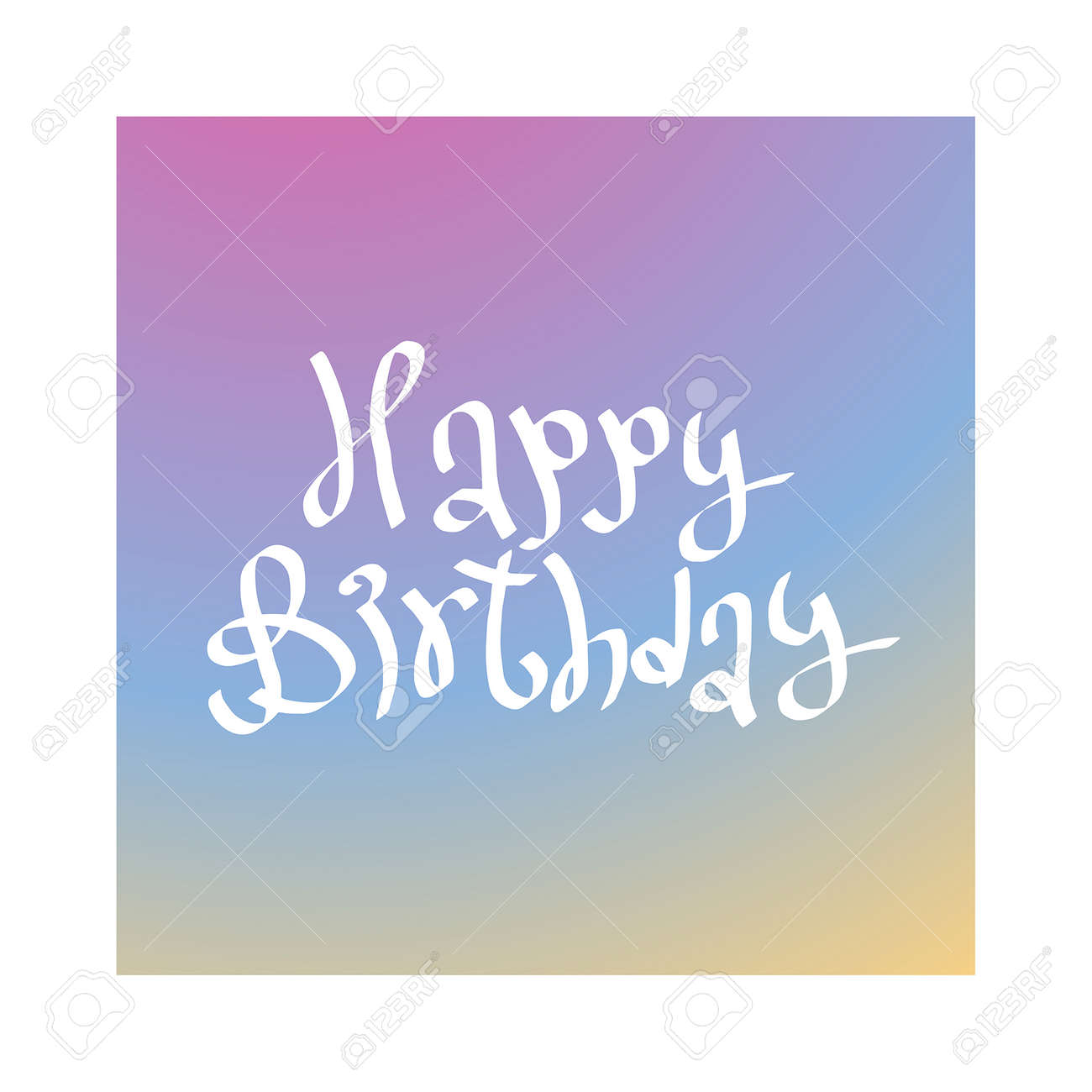 Happy Birthday Card Illustration Background Design Invitation