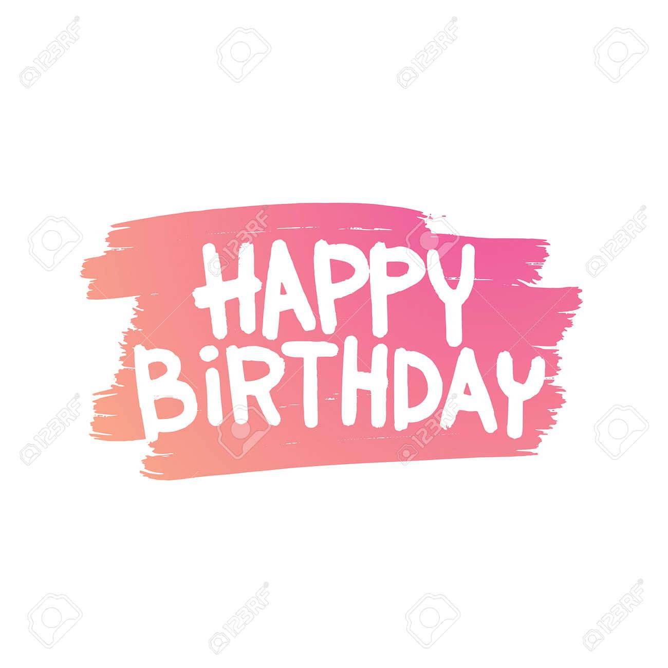 Happy Birthday Card illustration. Happy Birthday background. Happy Birthday Card design invitation. Happy Birthday Card poster. Happy Birthday Card party - 53359838