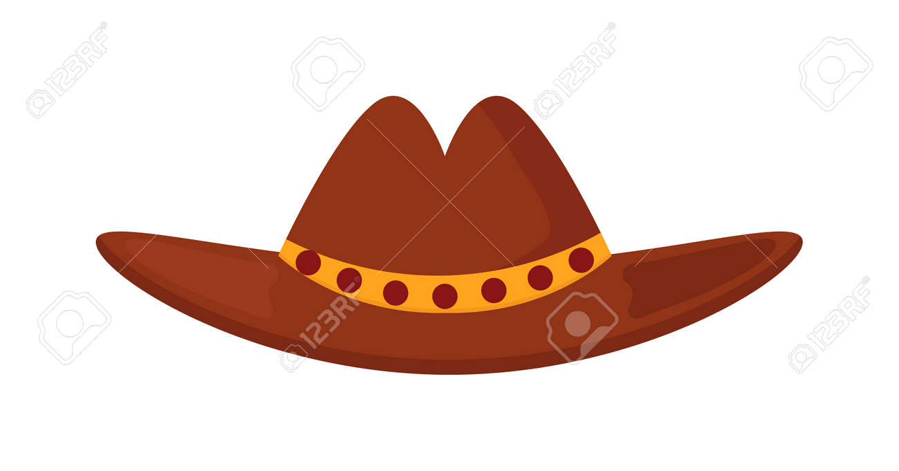 0617ef0d1e0d7 Sheriff s leather cowboy hat stetson accessory and western cowboy human  hat. Sheriff cowboy brown costume