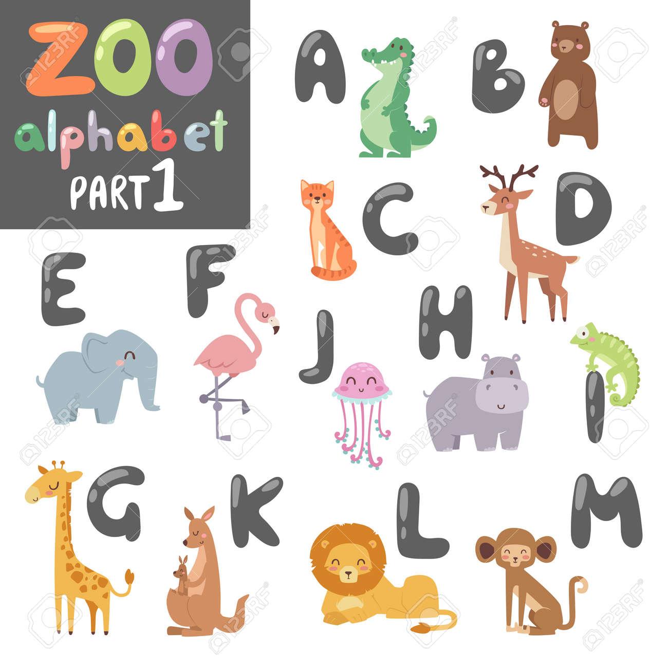 animals alphabet symbols wildlife animals font alphabet design vector cute vector zoo english alphabet