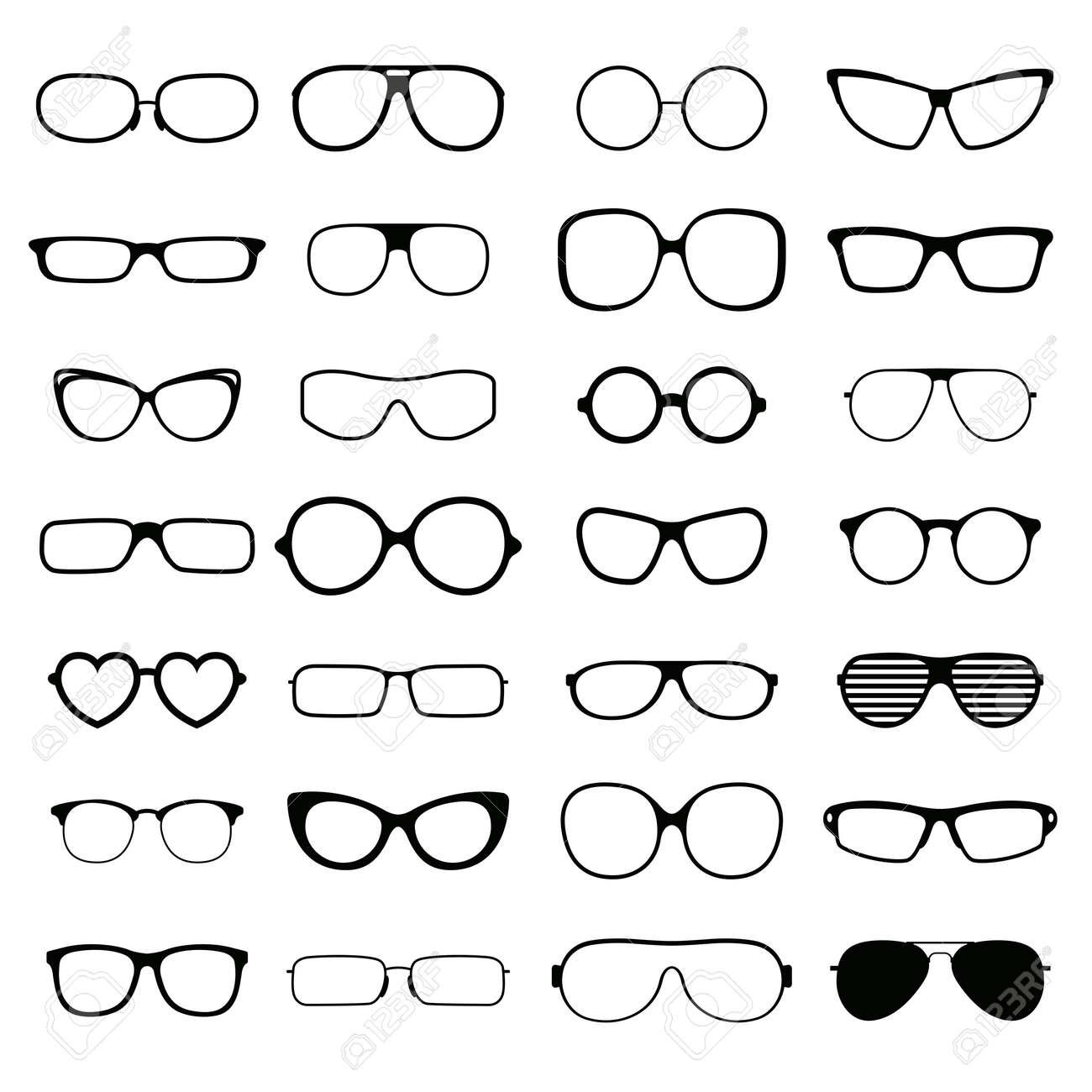 Schwarz Mode-Brille Silhouette Und Optische Sonnenbrille Schwarze ...