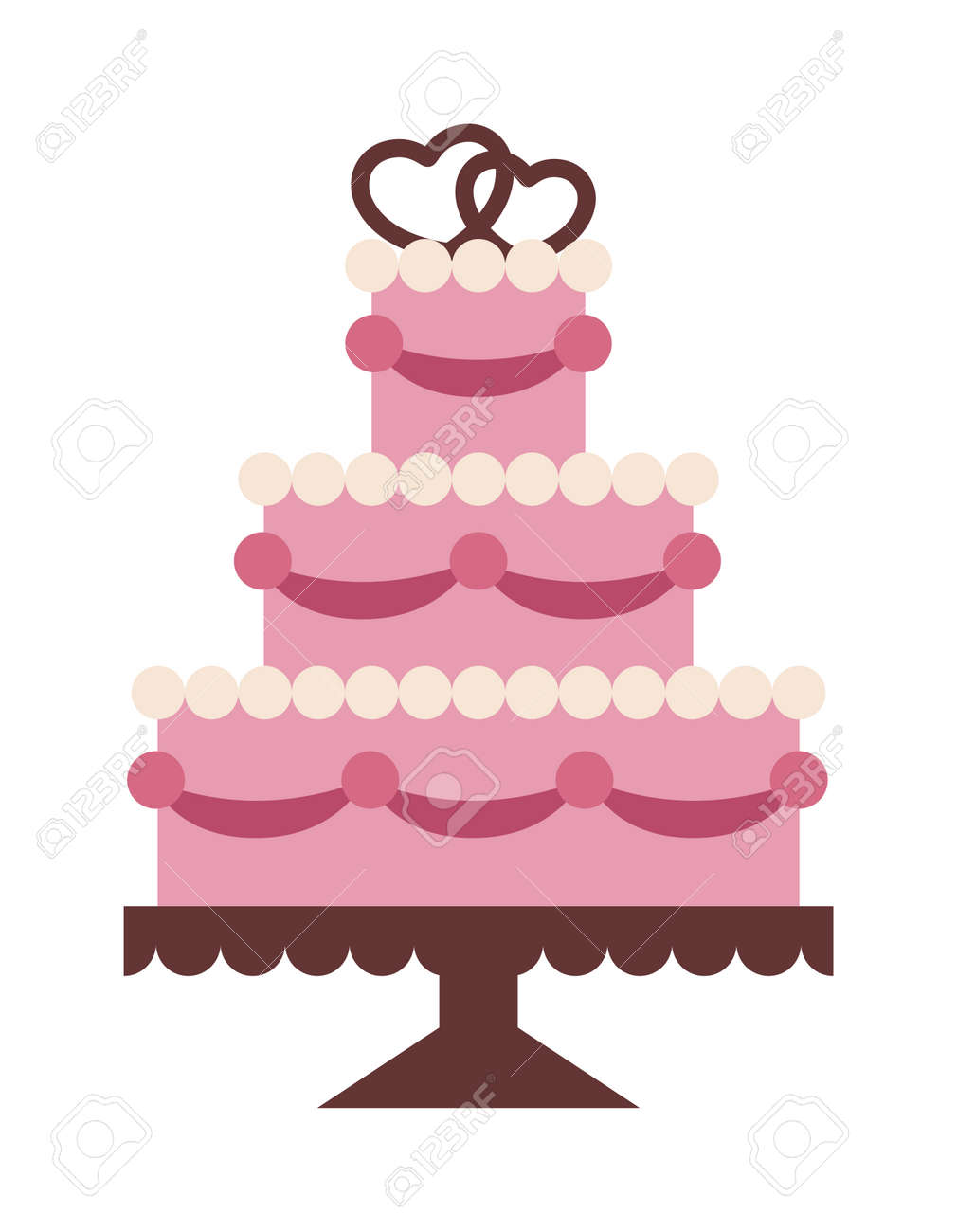 Wedding Cake Isolated On Background Wedding Cake Vector Illustration Royalty Free Cliparts Vectors And Stock Illustration Image 54589248