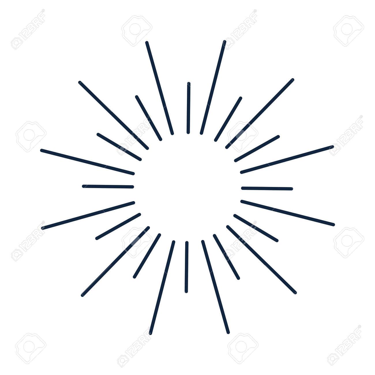 Sun Lines Shine Circle And Decorations Ray Sunburst Star Element Design