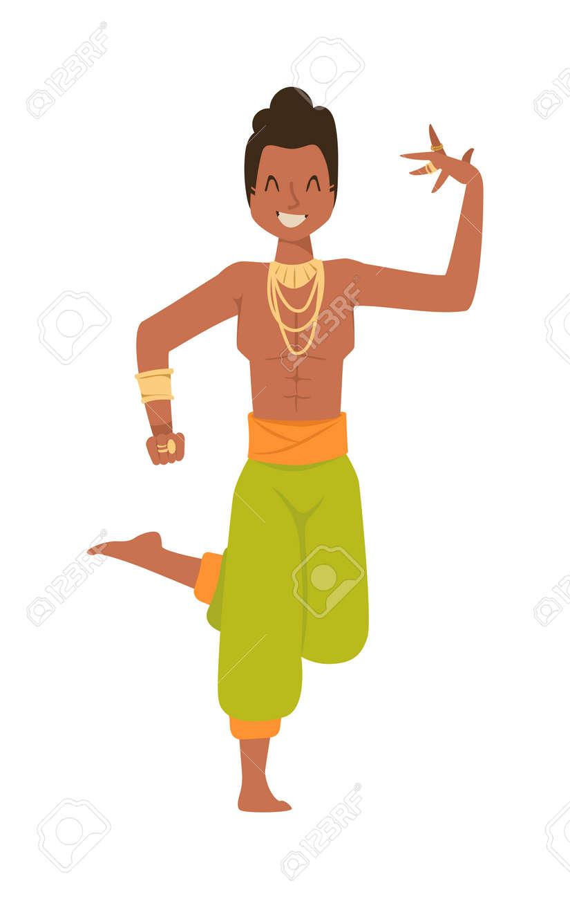 Indische Tänzerin Silhouette Und Indischen Cartoon-Tänzerin ...