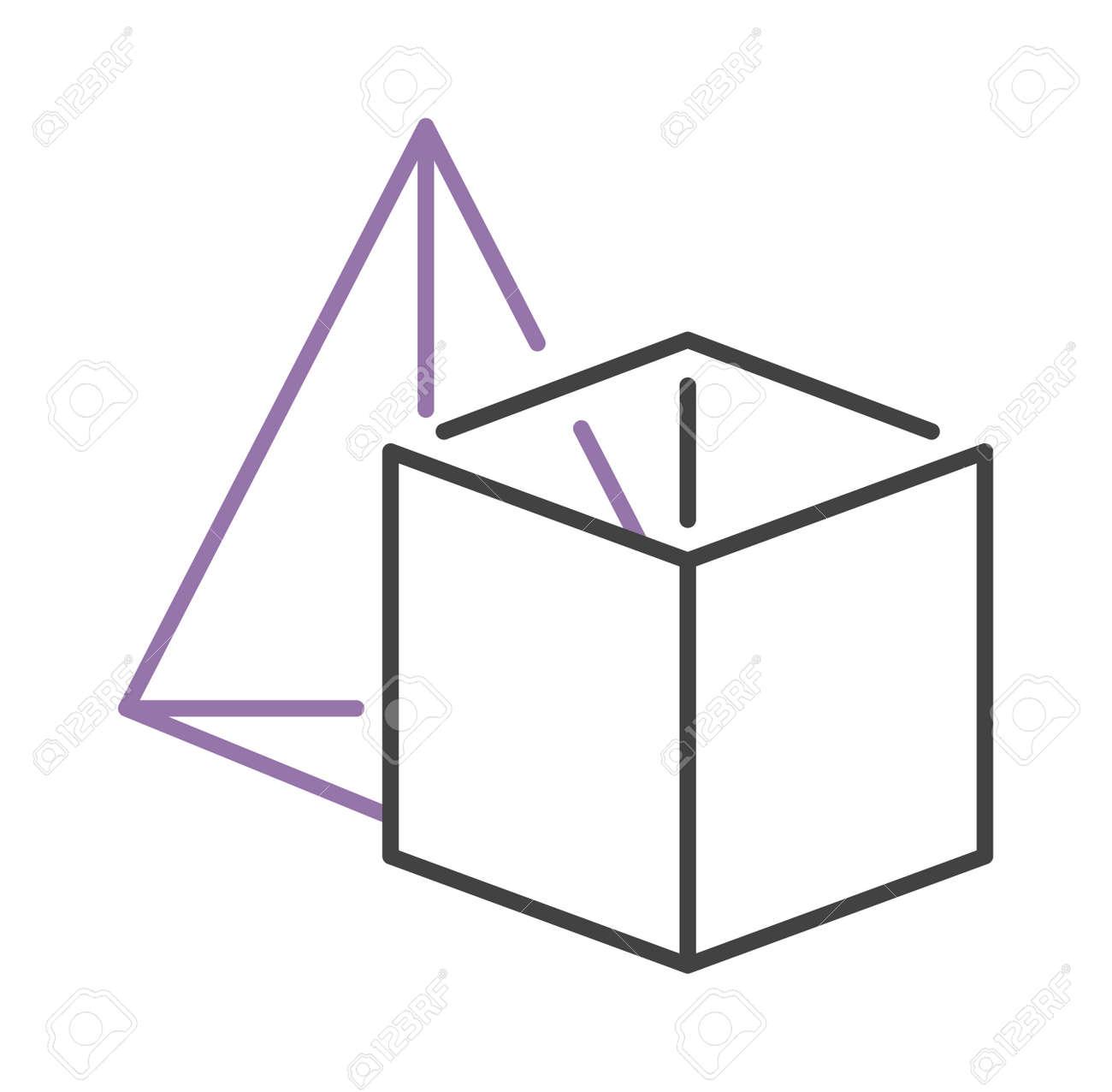 Icosaedro Línea De Dibujo Vectorial, Geometría Sagrada, Formas ...