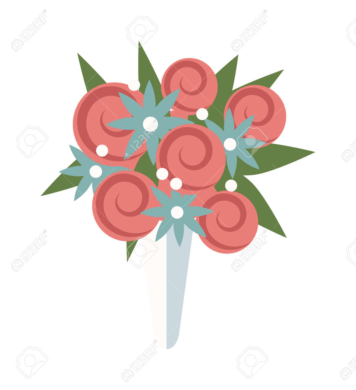 Wedding Bouquet Vector Illustration Wedding Bouquet Flowers