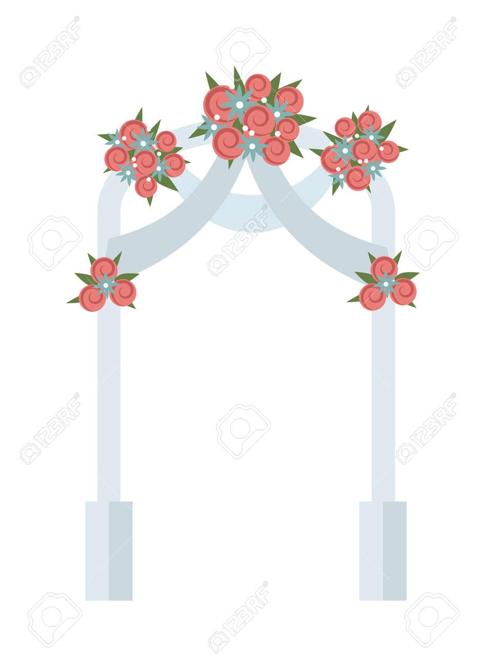 Hochzeit Bogen Mit Rosa Rosen Vektor Wedding Arch Schone Hochzeit