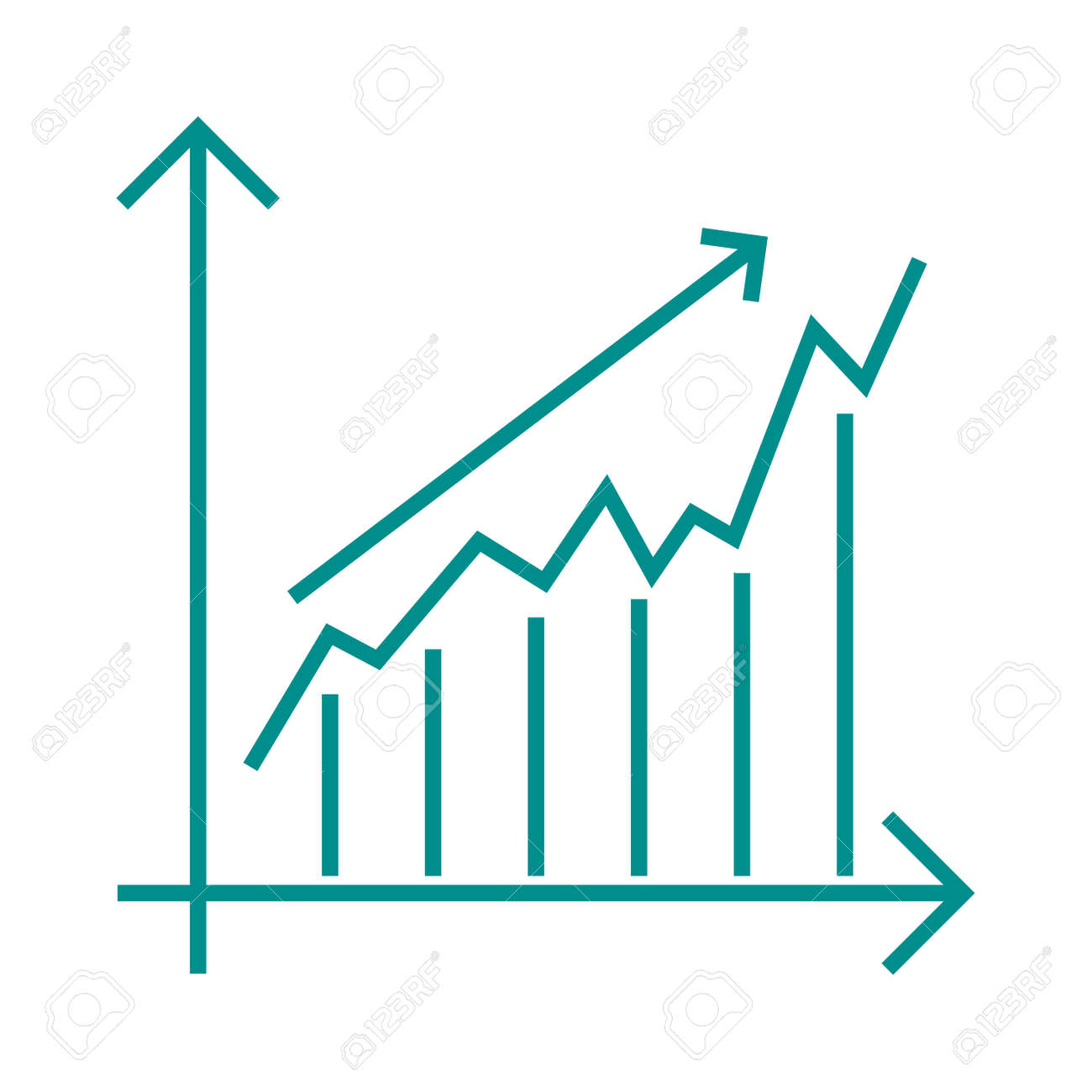 Vector growing chart graph icon business arrow progress diagram vector vector growing chart graph icon business arrow progress diagram growth chart business arrow and financial market growth chart ccuart Images