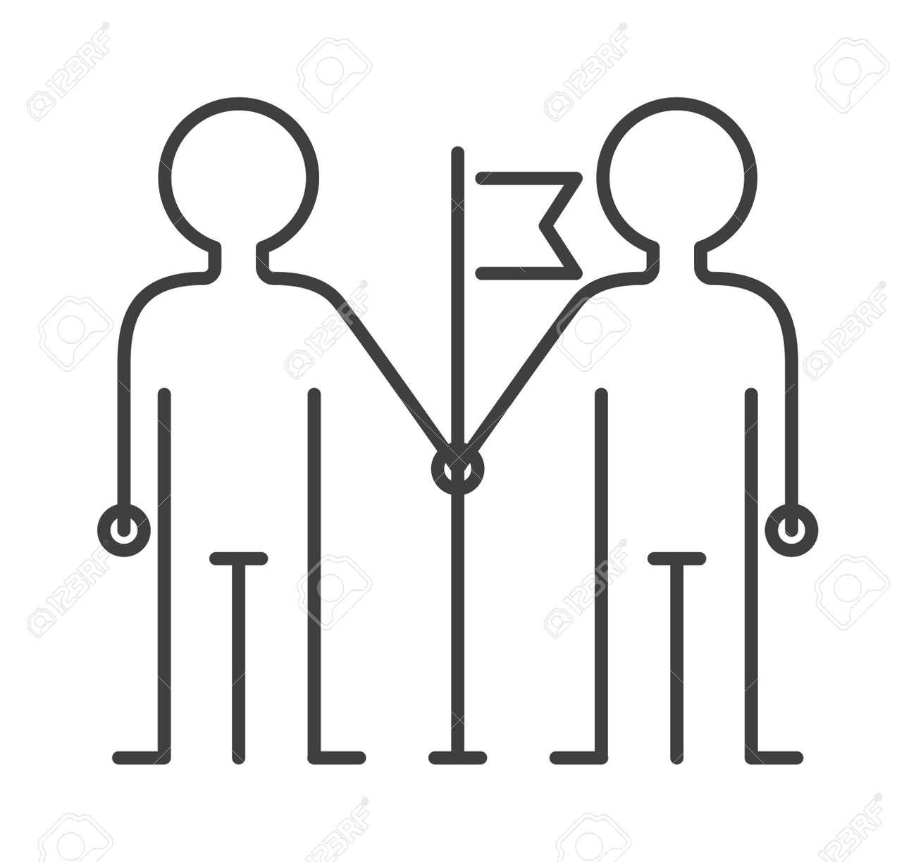 Zusammenhalt Symbol Freundschaft Geschäft Und Silhouette