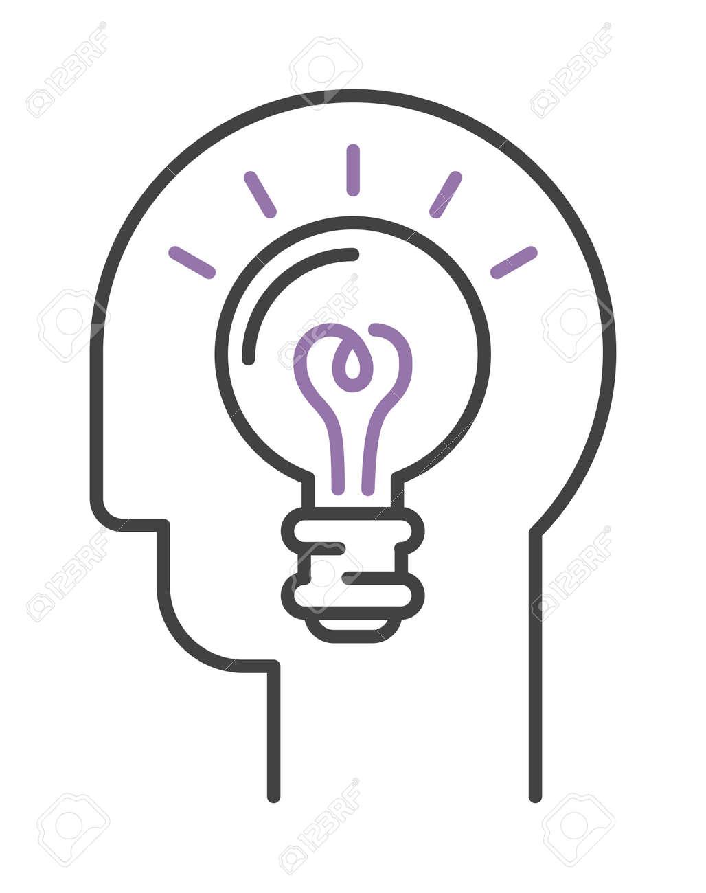 Idee-Symbol Birne Lampe Und Idee Icon-Konzept. Power Design ...