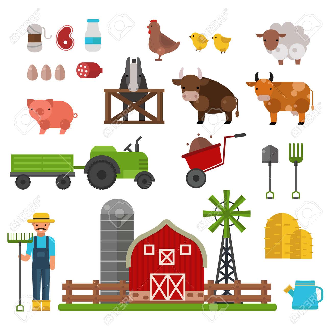 Inredning maskiner och verktyg : Husdjur, Mat Och Dryck Produktion Symboler, Ekologisk Produkt ...