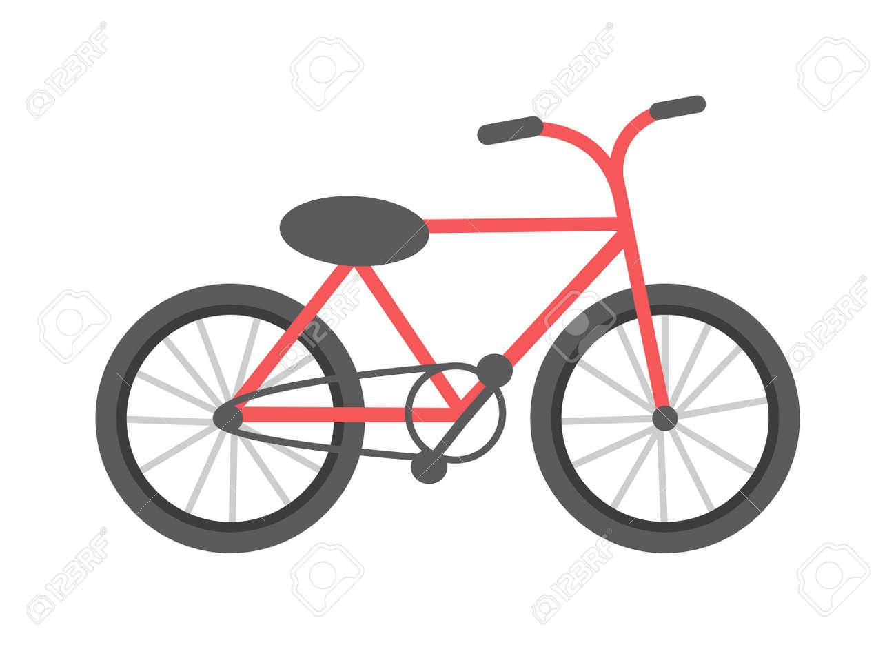 Rotes Fahrrad Auf Einem Weißen Hintergrund Fahrzeug, Rahmen Einen ...