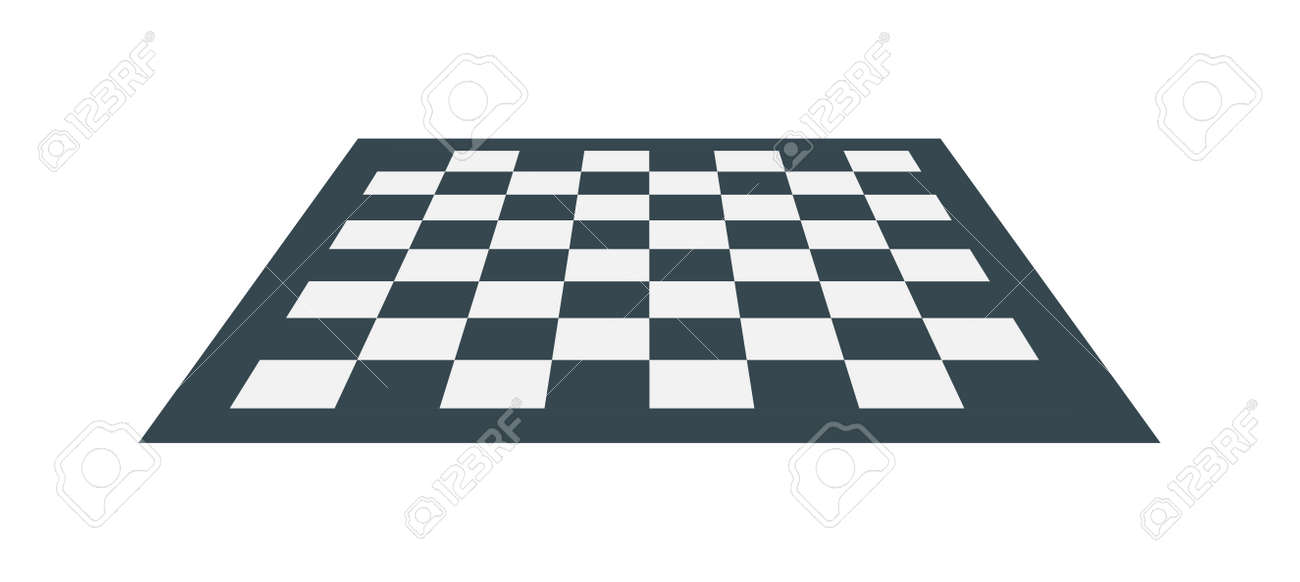 Flat Checker Chess Board Square Abstract Background Vector. Chess ...