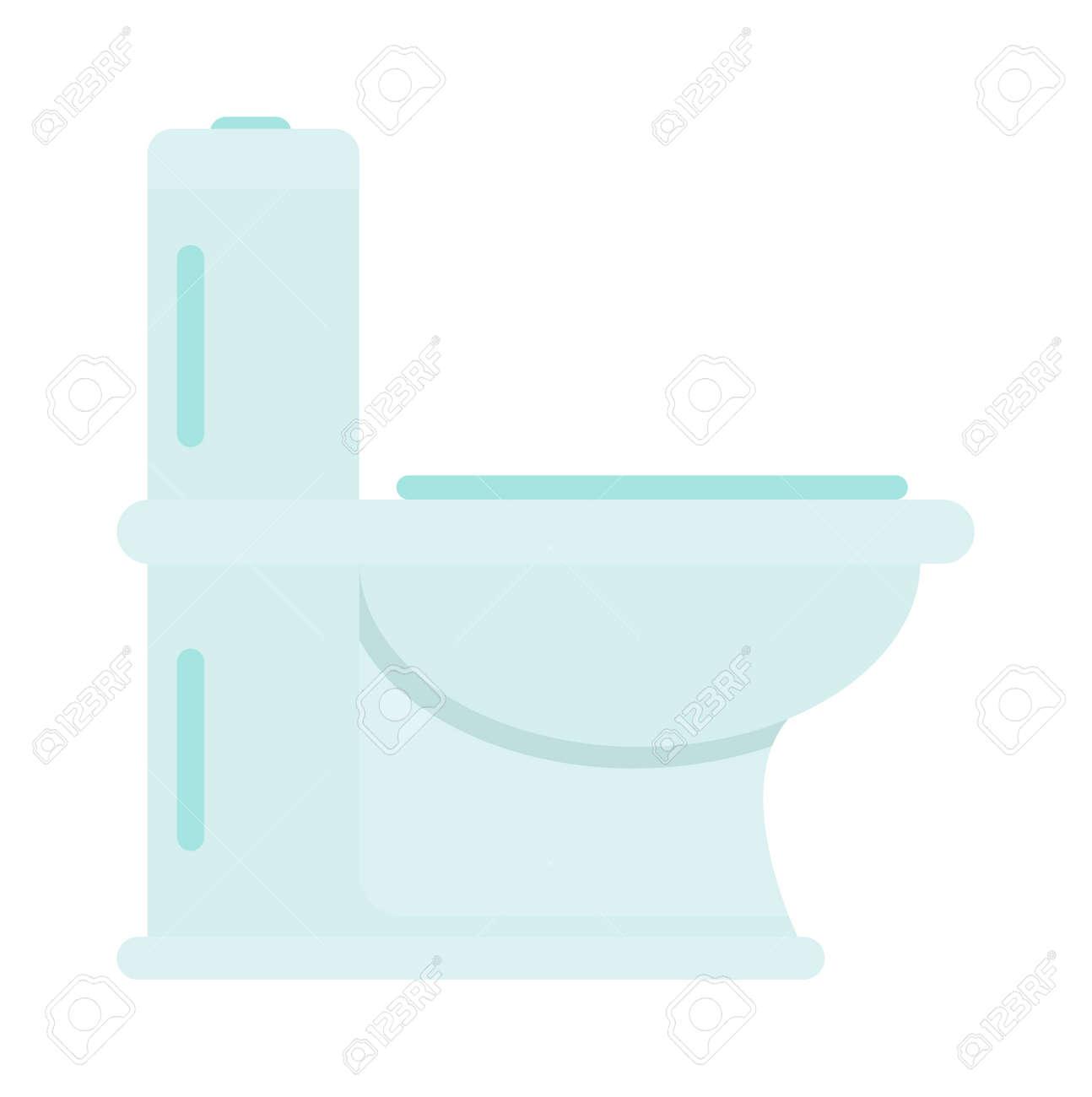Lavatory toilet and clean toilet bowl  Domestic porcelain toilet flush  interior element  sanitary home. Lavatory Toilet And Clean Toilet Bowl  Domestic Porcelain Toilet