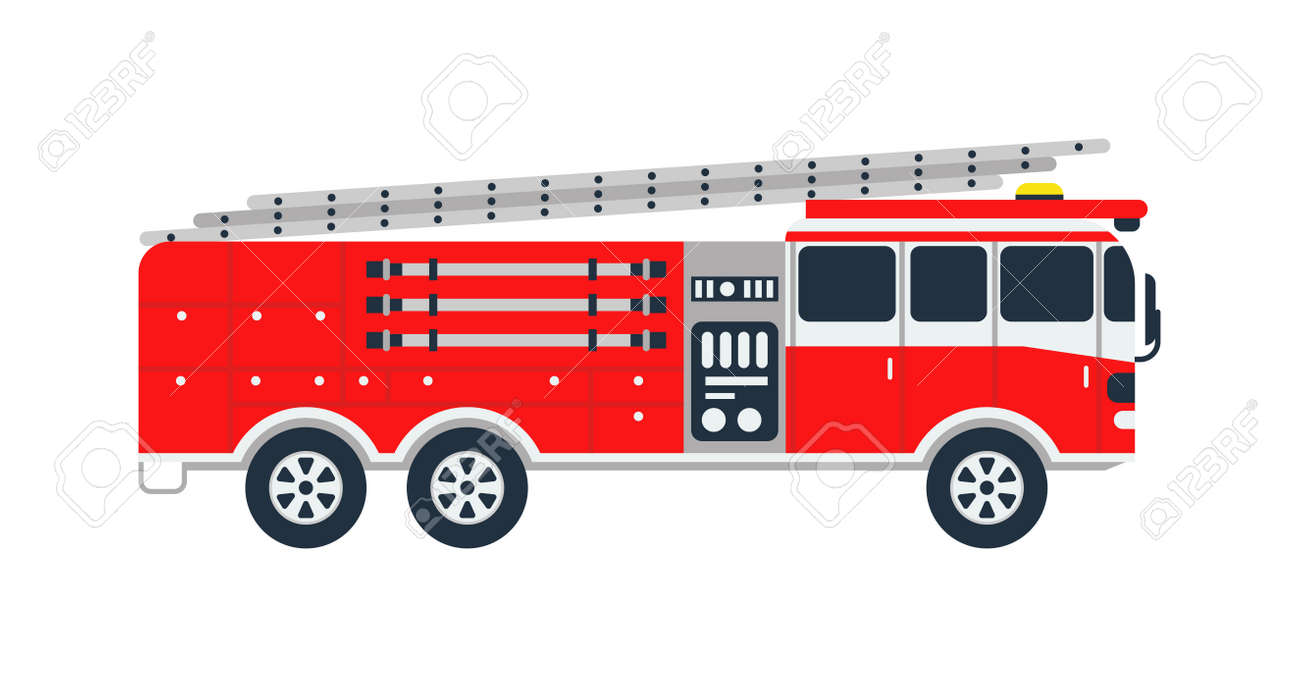 fire truck rescue engine transportation and vector transport