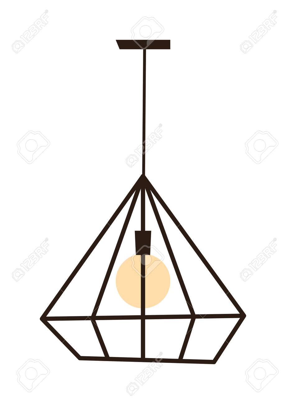 Moderne Lamp Koele Hanger Geïsoleerd Op Wit. Moderne Lamp ...
