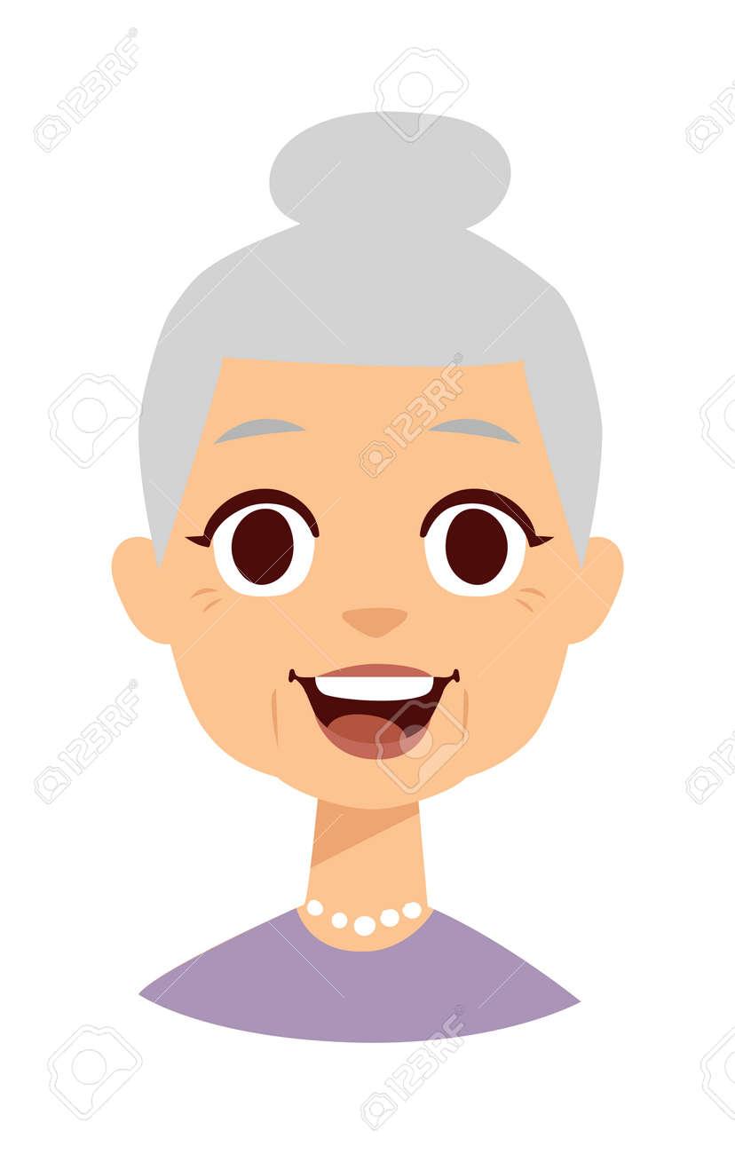 昔の人はかわいいおばあちゃんと面白いかわいいおばあちゃん顔 かわいいおばあちゃんベクトル文字や漫画かわいい幸せなおばあちゃん かわいいおばあちゃん 幸せな大人の女の顔と昔のおばあちゃんのキャラクターのライフ スタイルが大好きです のイラスト素材 ベクタ
