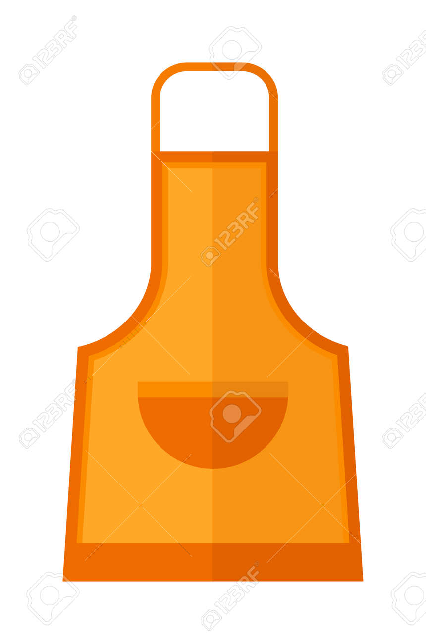 awesome Protective Clothing In The Kitchen #7: Kitchen apron cooking chef uniform protective clothing vector illustration. Kitchen apron chef uniform and textile