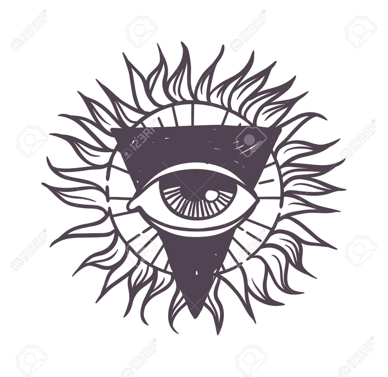disegnato vector simbolo esoterico schizzo a mano la religione la