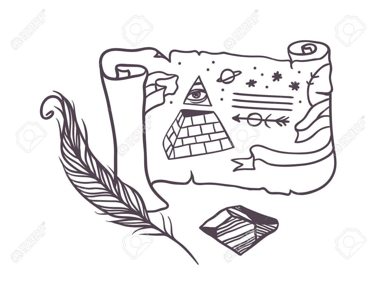 Vector linear secret symbols in hipster style icons abstract vector linear secret symbols in hipster style icons abstract design elements vector masonic secret symbols buycottarizona Images